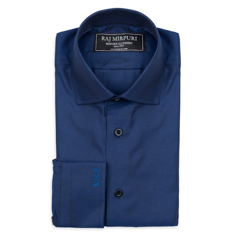 Bespoke - Light and Dark Blue Tattersall Tailored Shirt