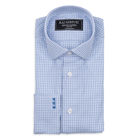 Blue Striped Bespoke Shirt