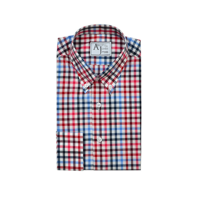 Bespoke - Red, Blue & Black Checked Shirt
