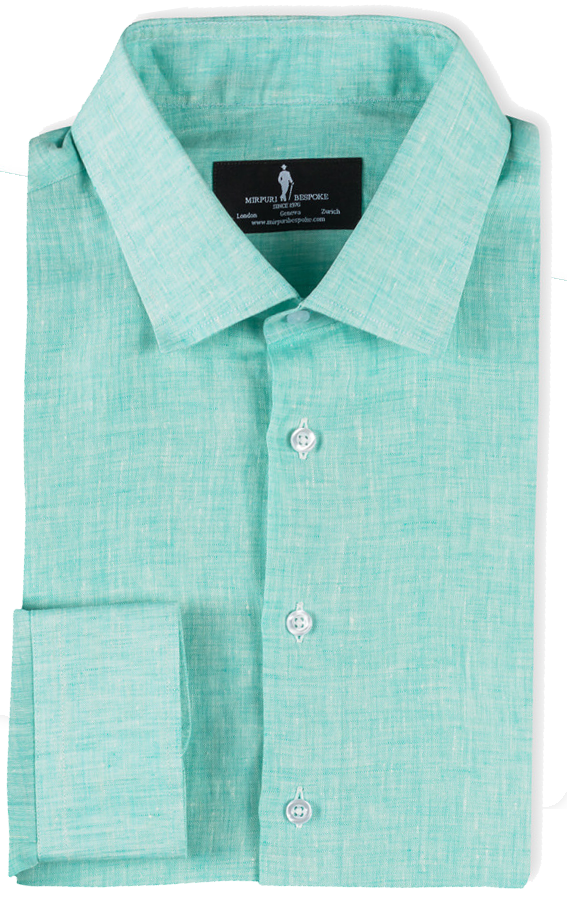 Bespoke - Green Linen Shirt