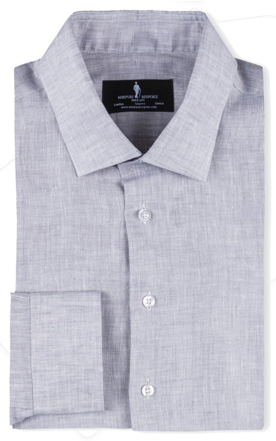 Bespoke - Grey Linen Shirt