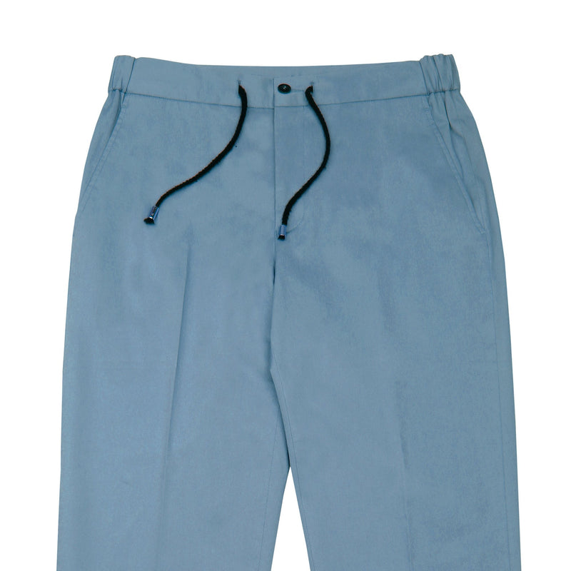 Light Blue Tailored Drawstring Chino