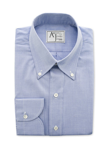 Bespoke - Medium Blue Gingham Shirt
