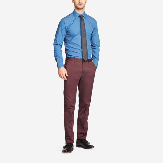 Maroon Cotton Bespoke Trousers