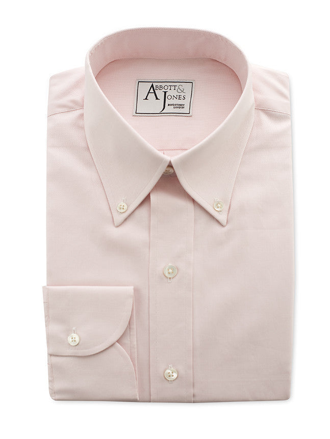Bespoke - Pink Royal Oxford Shirt - Button Cuff