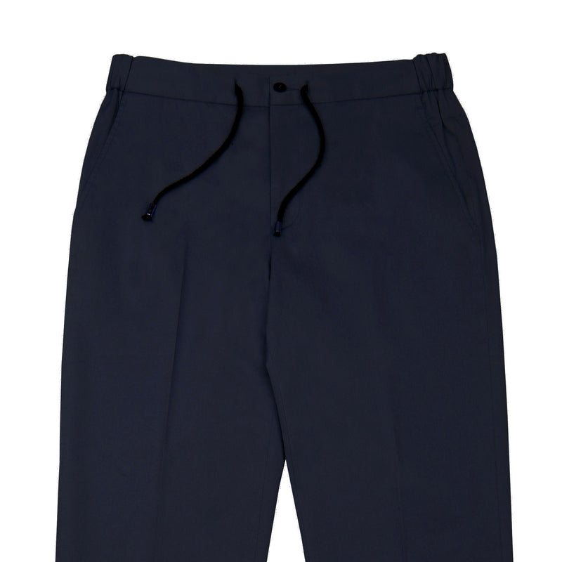 Midnight Blue Tailored Drawstring Chino