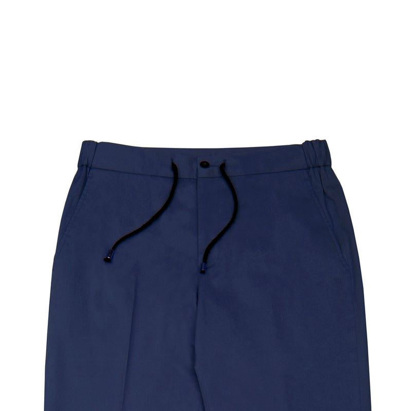Royal Blue Tailored Drawstring Chino