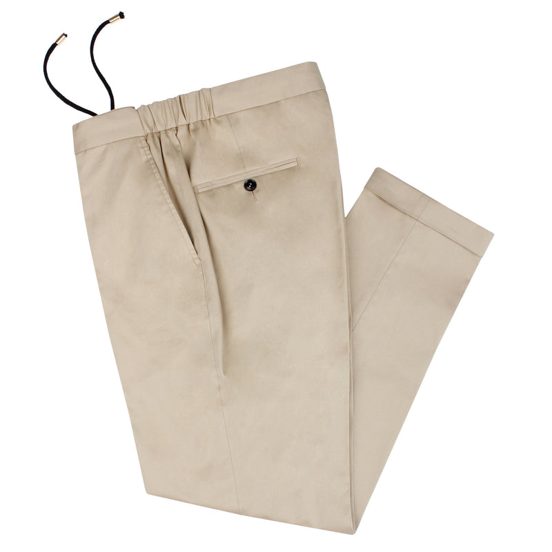 Khaki Tailored Drawstring Chino