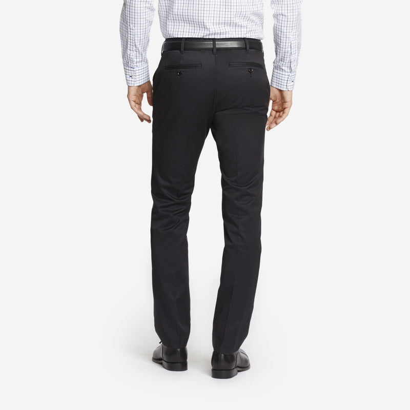 Black Tailored Chinos