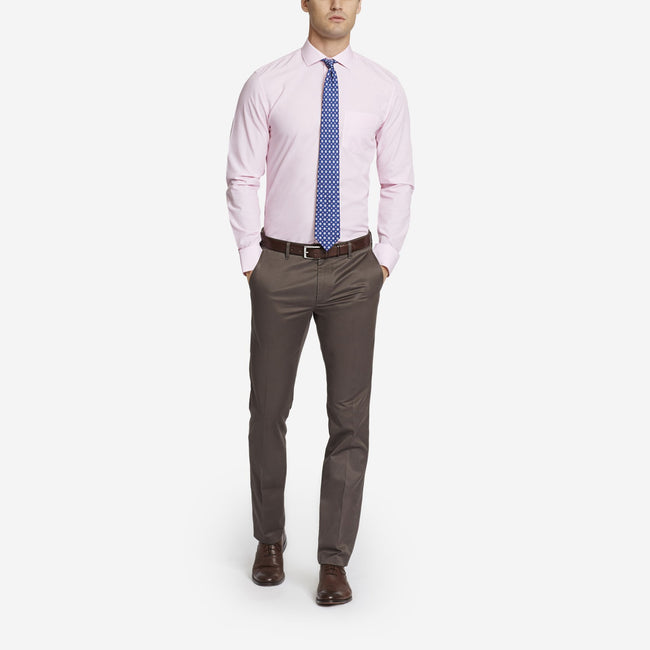 Brown Bespoke Tailored Cotton Trousers