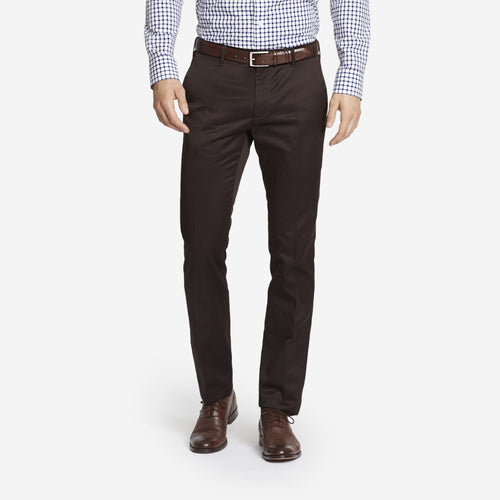 Dark Brown Tailored Chinos
