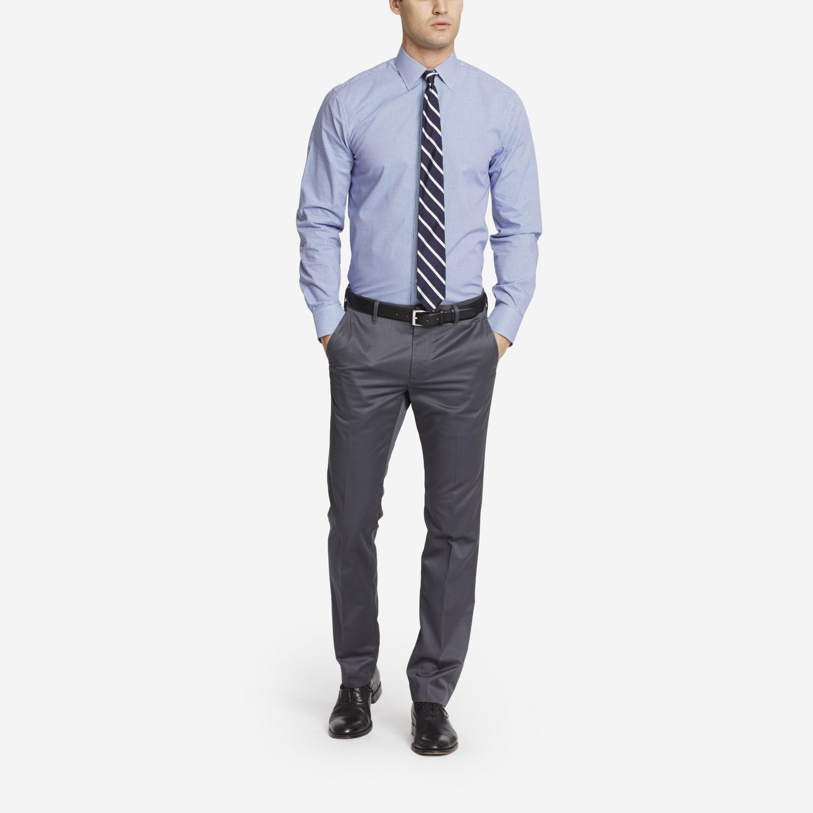 Grey Bespoke Tailored Cotton Trousers