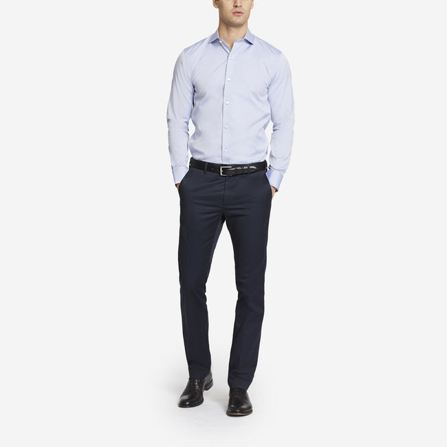 Midnight Blue Bespoke Tailored Cotton Trousers