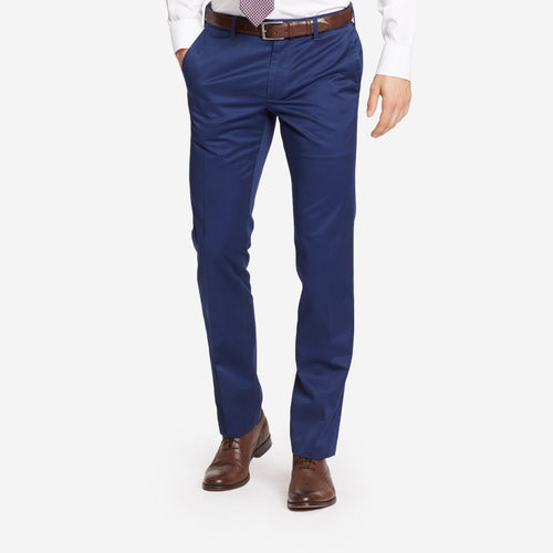Navy Blue Tailored Chinos
