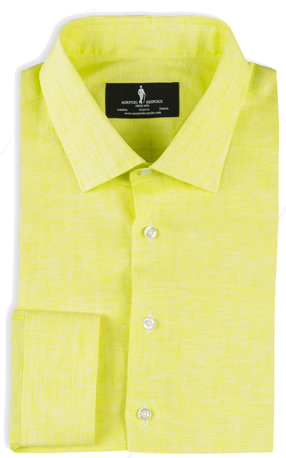 Bespoke - Yellow Linen Shirt