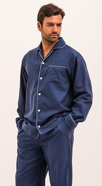 Bespoke - Navy Blue Pyjamas