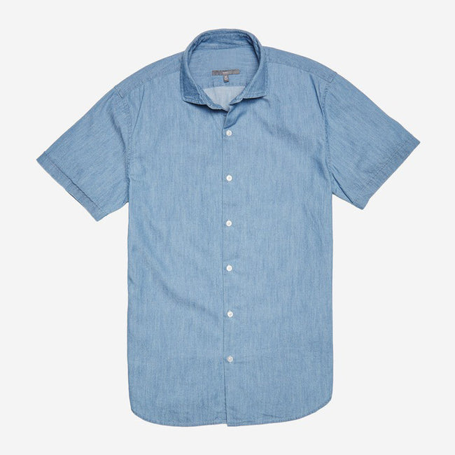 Bespoke - Light Blue Short Sleeve Shirt