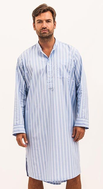 Bespoke - Blue Stripe Nightshirt