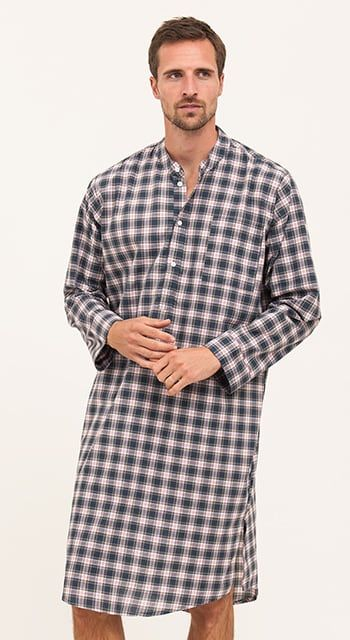 Bespoke - Dark Blue & Red Checked Nightshirt