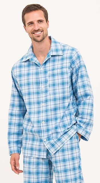 Bespoke - Blue Checked Pyjamas
