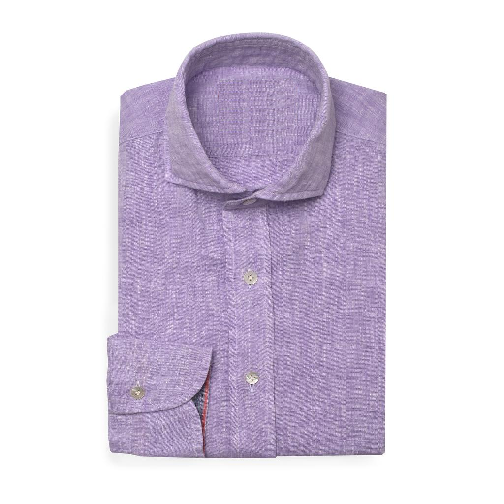 Bespoke - Purple Linen Shirt