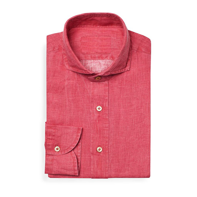 Bespoke - Red Linen Shirt