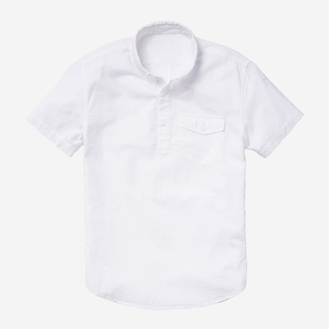 Bespoke - White Popover Short Sleeve Shirt