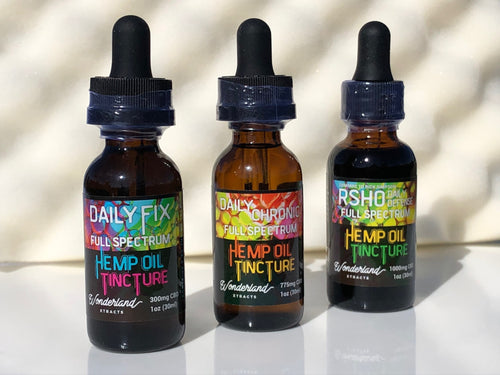 Wonderland Xtracts Complete Spectrum CBD Tinctures