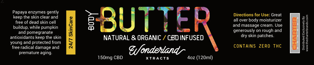 Wonderland Xtracts Natural and Organic CBD Body Butter