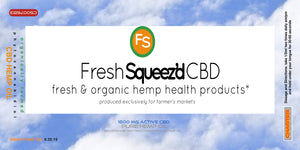 Fresh Squeezd Full Spectrum Hemp Extract Tinctures : Beta