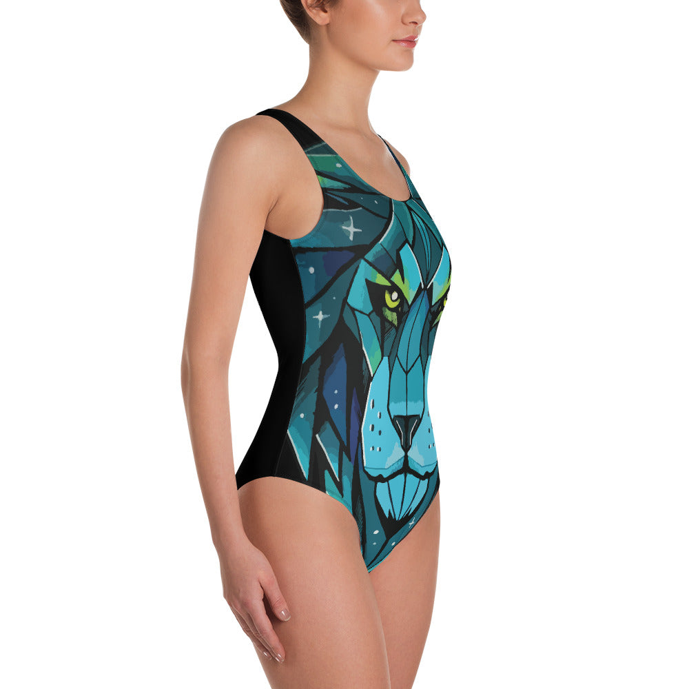 African Lion : One-Piece Swimsuit