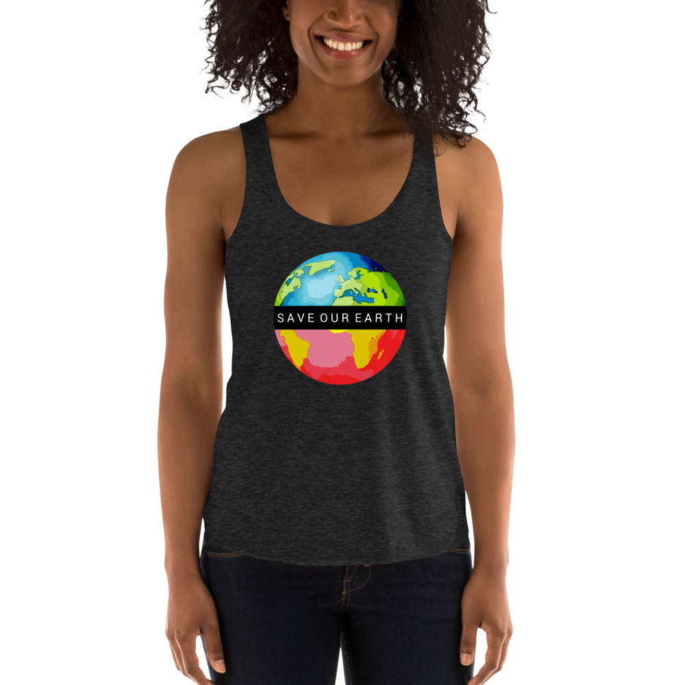 Save our Earth: Women's Tri-Blend Racerback Tank