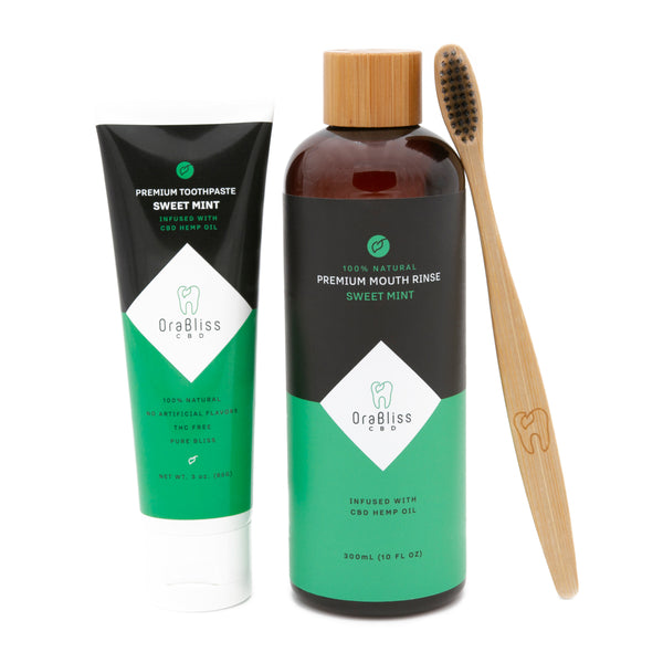 CBD Infused Organic Toothpaste And Organic Mouthwash