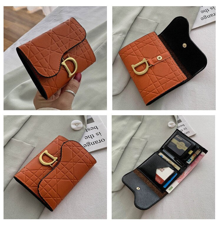 Wallet For Women Coin Purse Short Luxury Style Folding Lady Simple Fashion Mini Coin Purse Wholesale For Dropshopping - KbnMart