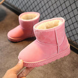 2020 KIDS Boys Girls Snow Boots Shoes Winter Warm Plush Inside Cow Muscle Sole Child Snow Boots Shoes For Baby Girls Boys Boots - KbnMart