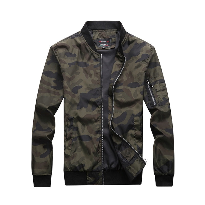 Men Baseball Jacket Embroidered Leather Pu Coats Slim Fit College Fleece Luxury Pilot Jackets Men's Stand Collar Top Jacket Coat - KbnMart