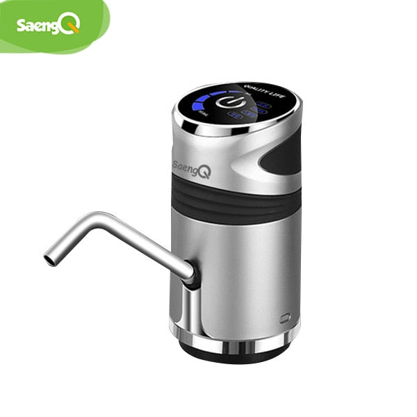 saengQ Home Water Bottle Pump USB Charging Automatic Drinking Water Pump Portable Electric Water Dispenser Water Bottle Switch