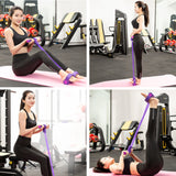 Resistance Bands Weight Loss fitness Equipment 4 tube Tension Trainer Sports Foot Expander Chest Pull Leg Latex Rope Gymnastics - KbnMart