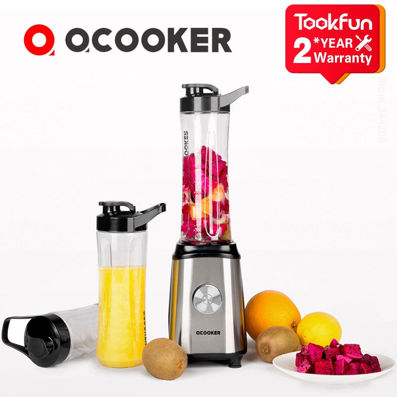QCOOKER CD-BL01 Fruit Vegetables blenders Cup Cooking Machine Portable Electric Juicer mixer Kitchen food processor Easy safe