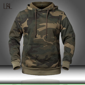 Men Fashion Sweatshirt Male Camo Hoody Hip Autumn Winter Military Hoodie Mens Clothing - KbnMart