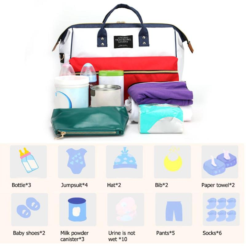 NEW Fashion Baby Diaper Bag for Mom Maternity Totes Baby Nappy Nursing Bags Travel Backpack - KbnMart
