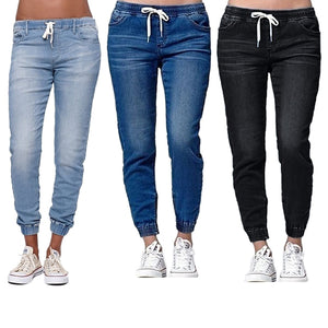 Women's jeans pants Women's jeans for women High waist jeans Autumn Pencil Pants  Loose Ccowboy Pants - KbnMart