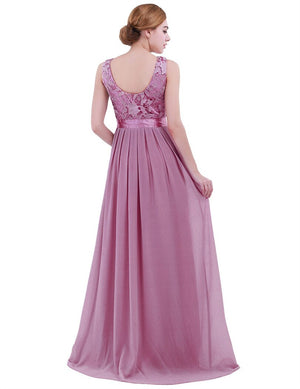 Lace Bridesmaid Dresses Long New Designer Chiffon Beach Garden Wedding Party Formal Junior Women Ladies Tulle Dress - KbnMart