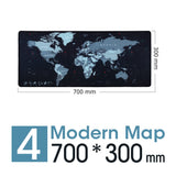 New World Map Speed Locking Edge Large Natural Rubber Mouse Pad Waterproof Game Desk Mousepad Keyboard Mat for Warcraft Dota LOL - KbnMart