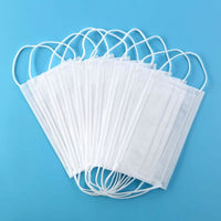 650Pcs White Strong Protection Masks 3-Ply Face Masks Face Disposable Salon Masks Ear Loop Wholesale Fedex Free Shipping