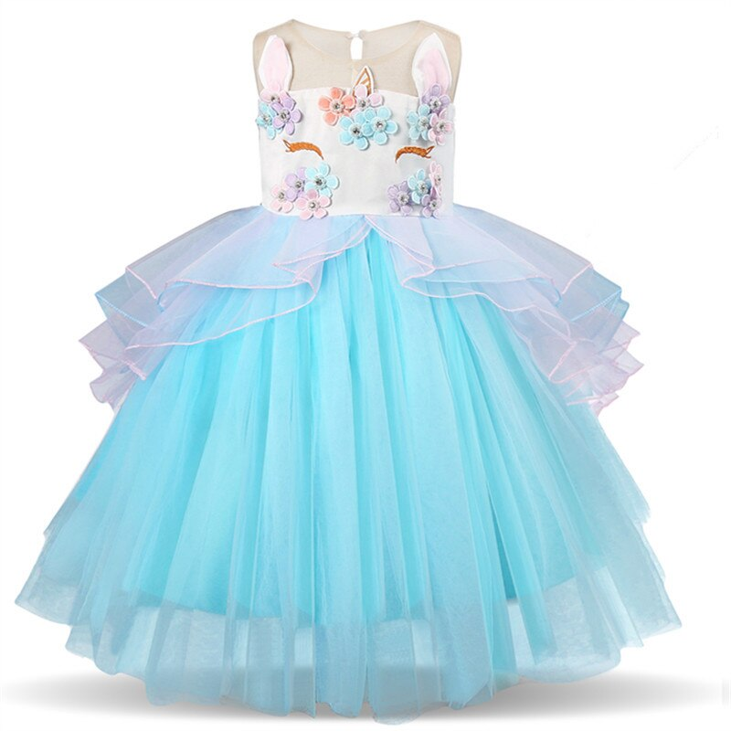 Girls Dress Elegant New Year Princess Children Party Dress Wedding Gown Kids Dresses for Girls Birthday Party Dress Vestido Wear - KbnMart
