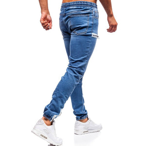 3 Styles Men Stretchy Skinny Biker Slim Fit Denim Men Multi-pocket zipper pencil Pants men casual jeans fashion Casual Trousers - KbnMart