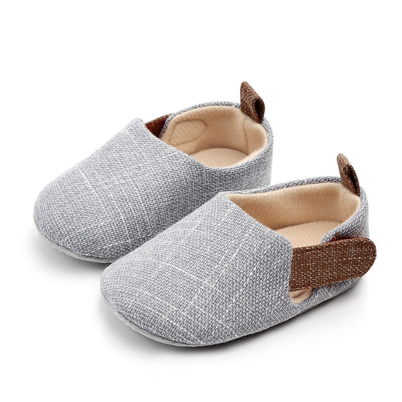Baby Boy Shoes Infant Soft First Walkers Toddler Kids Nonslip Indoor Outdoor Shoes Spring Autumn Cotton Fabric Prewalkers - KbnMart