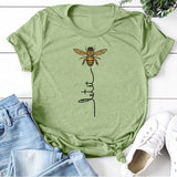 Hillbilly Women Bee Kind T-shirt Aesthetics Graphic Short Sleeve Cotton Polyester T Shirts Female Camisetas Verano Mujer 2020 - KbnMart