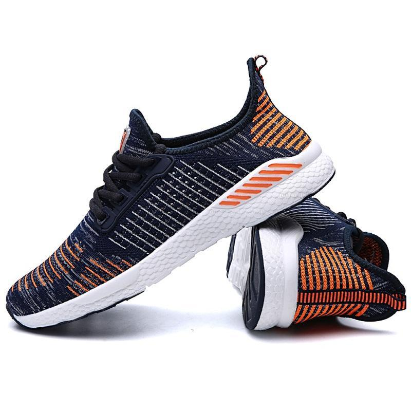 KbnMart Fly-A Men Sneakers Ultralight Soft Breathable Bouncy Shock Absorption Running Ball Game Sneakers - KbnMart